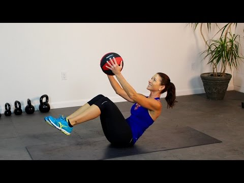 Medicine Ball Abs Defined Best Way to a Flat Stomach!