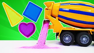 Play Doh ve kinetik kum oyunu. Renkleri ve şekilleri öğreniyoruz. Okul öncesi eğitici video