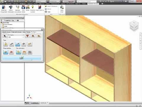 Autodesk Inventor - Woodworking - 3 Part Tutorial Woodworking 4 Inventor   1 of 3 - All Levels