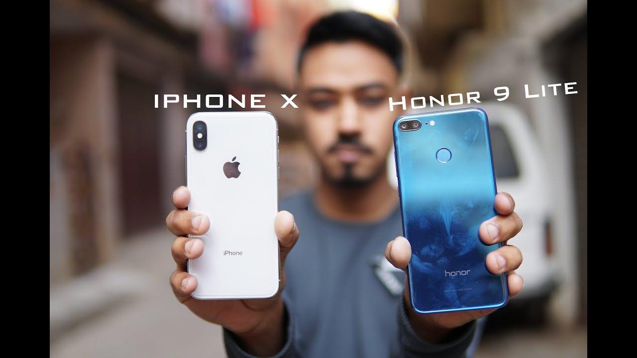 Honor 9 Lite vs Apple IPhone X Camera comparison - YouTube