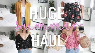 HUGE Summer High Street Haul & Try On | Topshop, H&M, Urban Outfitters, M&S & Free People
