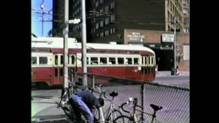 Toronto TTC 1980s Streetcar and Trackless Trolley Video