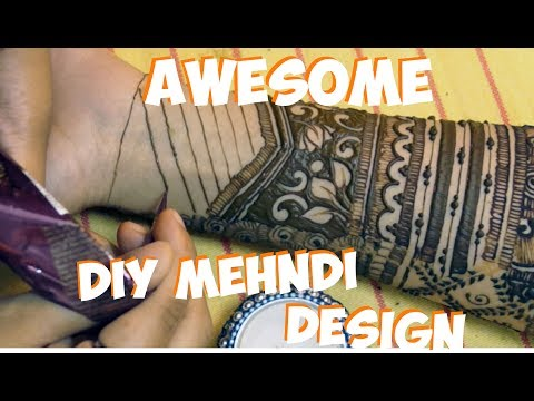 Easy awesome bridal mehndi design for brides