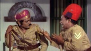 Alluri Seetharama Raju || Rajababu afraid of Krishna Comedy Scene