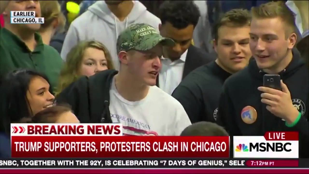 Image result for protesters attack trump supporters