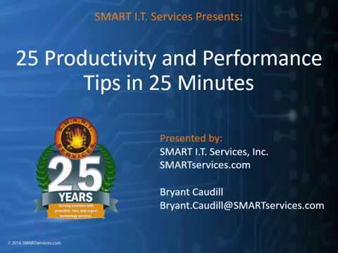 25 Productivity  and Performance Tips