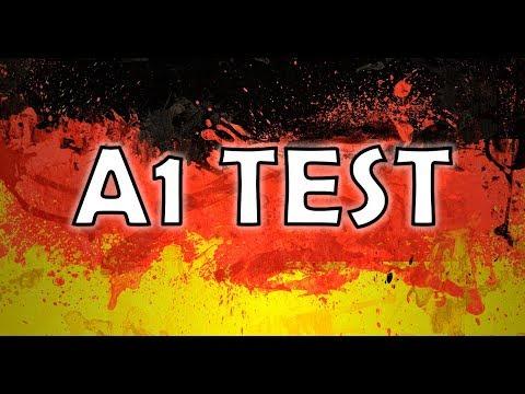 НЕМЕЦКИЙ тест на уровень А1 с объяснениями