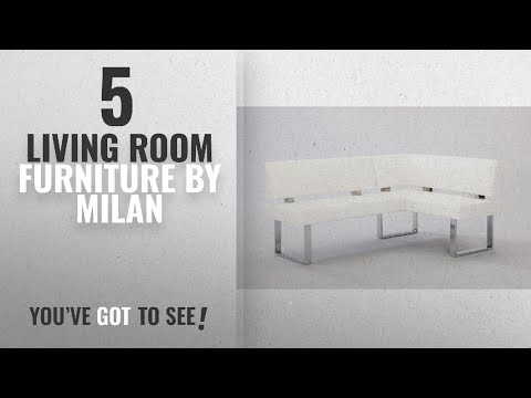 Top 10 Milan Living Room Furniture [2018]: Milan Lillian Faux Leather Nook, White