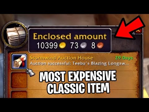 7 Most Expensive Items In Classic WoW