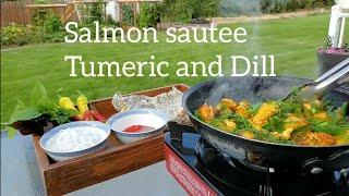 Salmon With Tumeric and Dill (Chả cá Hồi với Nghệ và Thìa Là )