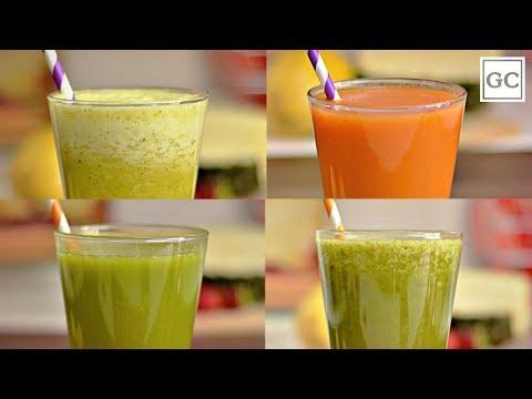4-sucos-saudáveis:-detox,-verde,-antioxidante-e-refrescante- -receitas-guia-da-cozinha