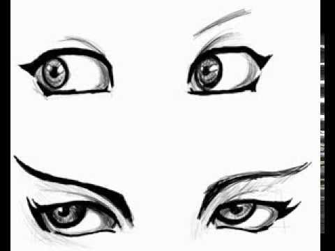 Como Desenhar Manga 3 Diferentes Tipos De Olhos Parte 2 Youtube