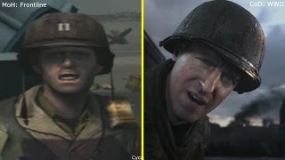 Call of Duty WWII vs Medal of Honor Frontline Omaha Beach Landing Graphics Comparison