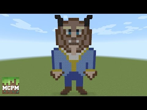 How To Build Beast From Beauty And The Beast Movie Pixel Art