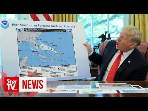 Sharpie-gate? Trump shows apparently altered hurricane map