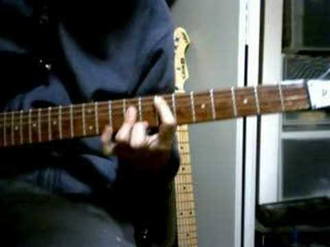 guitar chord demo play The Records/Starry Eyes