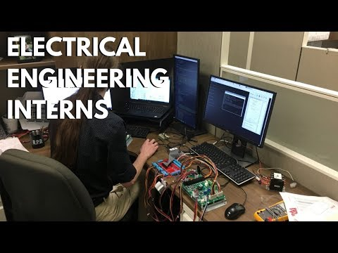 Electrical engineering students complete internships