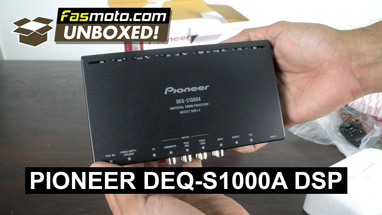 pioneer deq s1000a universal sound processor works with factory stereo systems malaysia [ 1280 x 720 Pixel ]