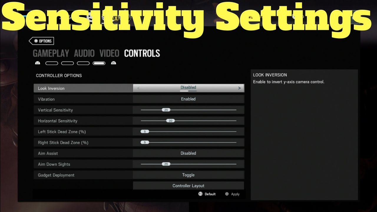 My Sensitivity Settings