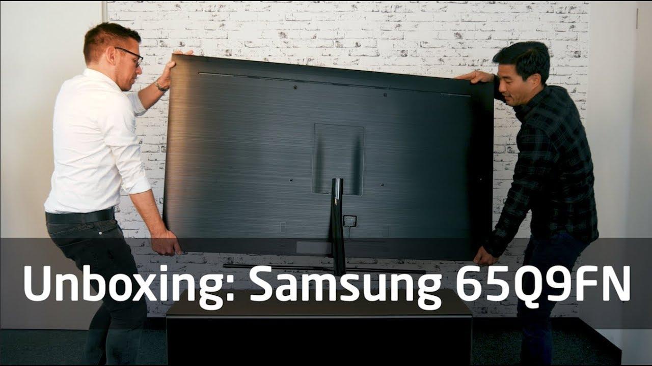 unboxing samsung q9fn youtube. Black Bedroom Furniture Sets. Home Design Ideas