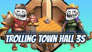 Clash of Clans - Level 10+ Heroes v. TH 3 (Trolling in Bronze III)