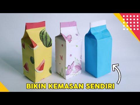 TUTORIAL DIY GIFT BOX ORIGAMI - CARA MEMBUAT KEMASAN / KOTAK KADO DARI KERTAS ORIGAMI