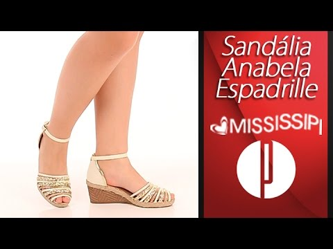 57b764b3e Sandália Anabela Espadrille Feminina Mississipi - 6091549403 - YouTube