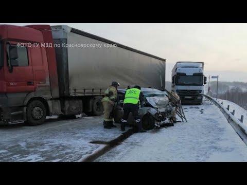 Двойное ДТП в Красноярском крае со смертельным исходом