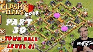 Clash of Clans Gameplay: Part 30 - TOWN HALL LEVEL 6! - Walkthrough - GPV247