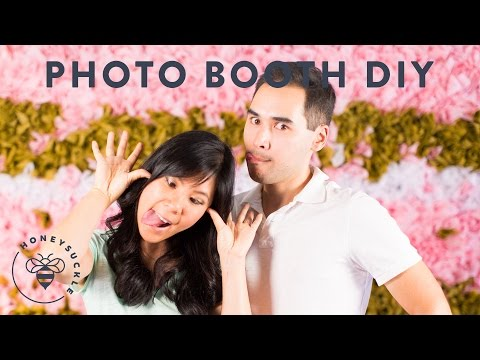 A DIY Photo booth Backdrop Wall | HONEYSUCKLE
