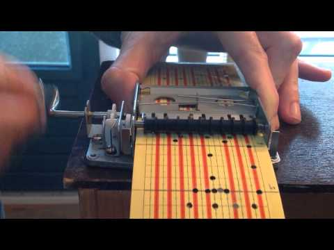 Miniature for punch card music box