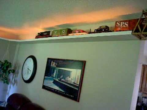 G scale ceiling train in my house youtube for House of tracks