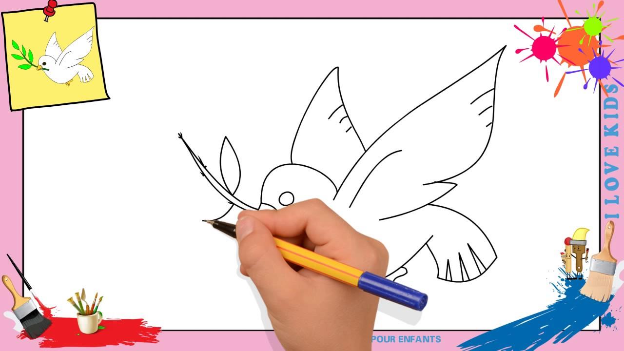 Coloriage Le Chien Et Le Pigeon.Dessin Pigeon Comment Dessiner Un Pigeon Facilement Pour Enfants