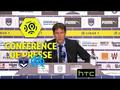 Conférence de presse Girondins de Bordeaux - Olympique de Marseille (1-1) - Ligue 1 / 2016-17