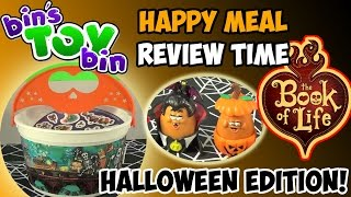 Book of Life Halloween Pails (2014) Happy Meal Review Time + SHOUT OUTS! by Bin