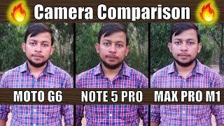 Mid-Range Camera Comparison 🔥🔥 | Moto G6 vs Redmi Note 5 Pro vs Zenfone Max Pro M1