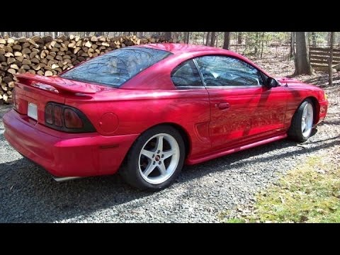 before Mustang - Sportline Springs Eibach 94-98 And Lowered After
