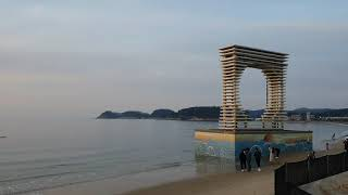 서해 안면도 해넘이 명소 만리포해수욕장  #자연경관 #…