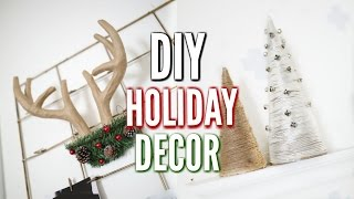 DIY Holiday Room Decor! Minimal & Simple!