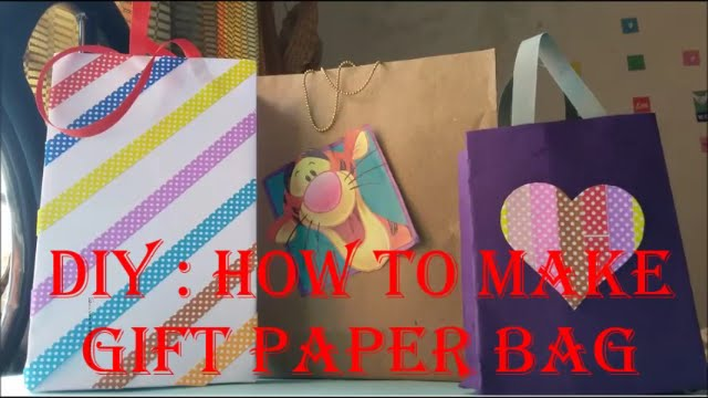 Do it yourself how to make gift paper bag easy steps youtube do it yourself how to make gift paper bag easy steps solutioingenieria Choice Image