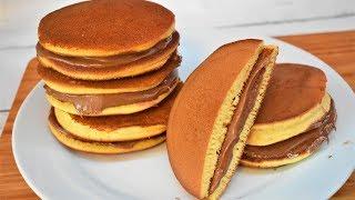 بان كيك ياباني|بان كيك بالنوتيلا للفطور خفيف وسهل  Fluffy Japanese Pancakes