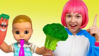 Yes Yes Vegetables Canción Infantil   Canciones Infantiles con Alex y Nastya