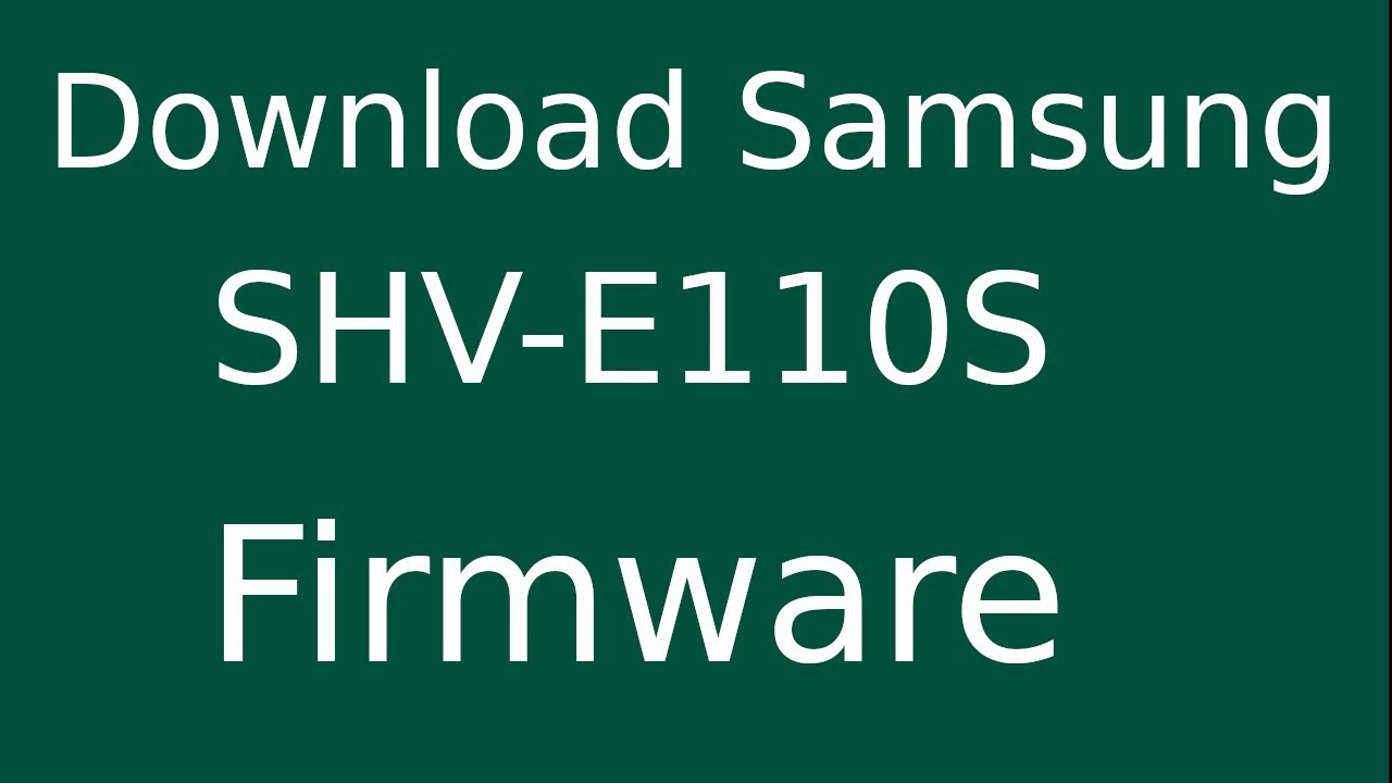 How to download samsung galaxy s2 lte shv-e110s stock firmware.