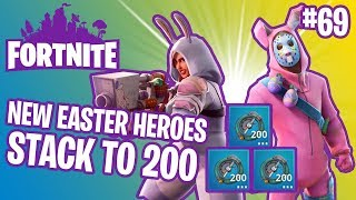 V3.4 Patch Notes | Easter Bunny Penny & Rabbit Raider Jonesy | Stacks To 200 | Fortnite #69
