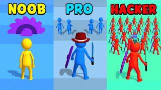 NOOB vs PRO vs HACKER - Join Clash 3D screenshot 2