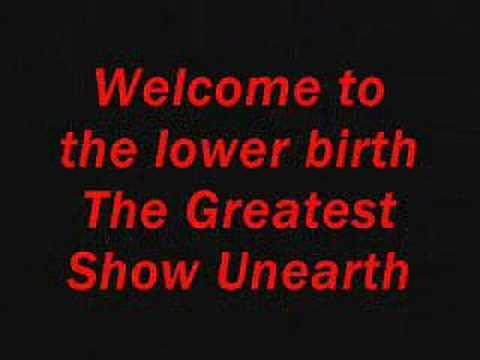 Creature Feature - the greastest show unearthed lyrics