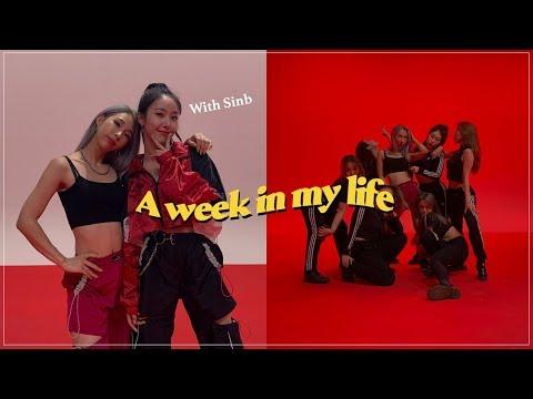 ENG Dancing with k-pop idol SinB Health checkup  여자친구 신비와 스튜디오 춤 촬영 짧은 입원과 퇴원 후 새 집에서 요리해먹기