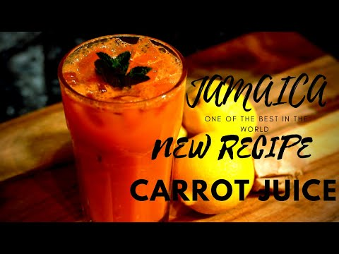 Traditional Jamaican Carrot Juice, Ginger Drink with Tasty | HOW TO MAKE CARROT JUICE