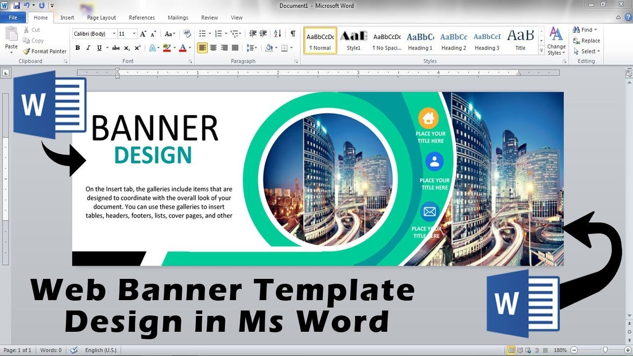 Banner Template Word from i.ytimg.com