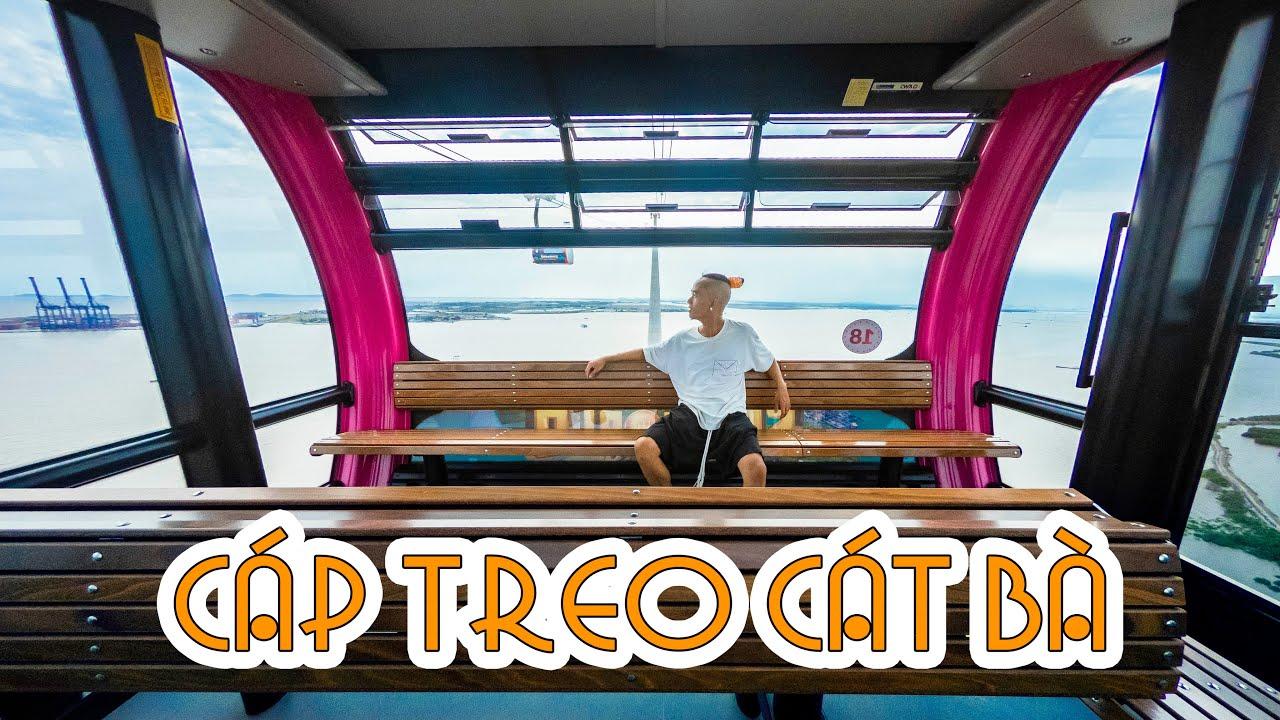 Ngồi trong cabin cáp treo CAO NHẤT và DÀI NHẤT thế giới nằm tại đảo Cát Bà Hải Phòng